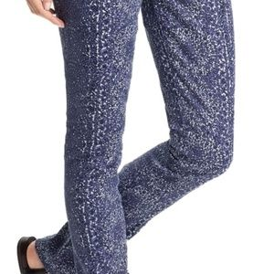 Tory Burch Floral/Medallion Printed Skinny Jeans
